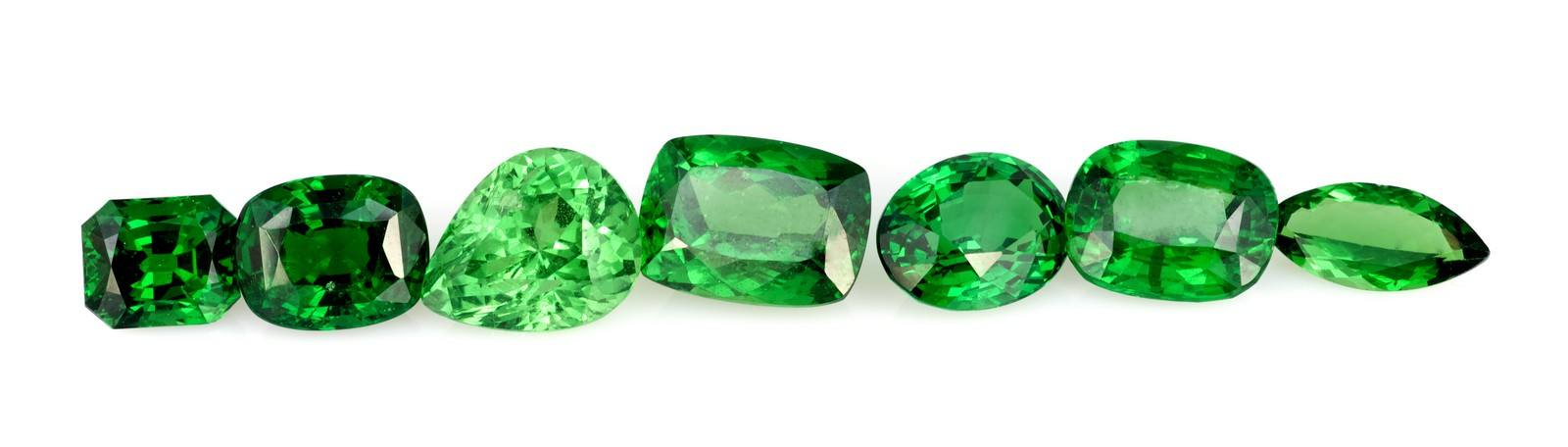Natural tsavorite gemstone dealer and sales